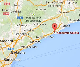 Mapa Academia Calella